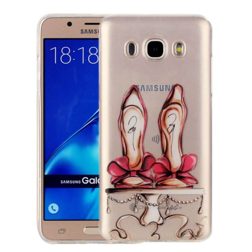 For Galaxy J7 (2016) Shoes Pattern IMD Workmanship Soft TPU Protective Case