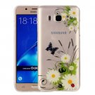 For Galaxy J7 (2016) Chrysanthemum Pattern IMD Workmanship Soft TPU Protective Case