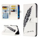 For Galaxy J7 (2016) Feather Flip Leather Case with 9 Card Slots, Wallet & Holder