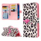For Galaxy J7 (2016) Leopard Flip Leather Case with 9 Card Slots, Wallet & Holder