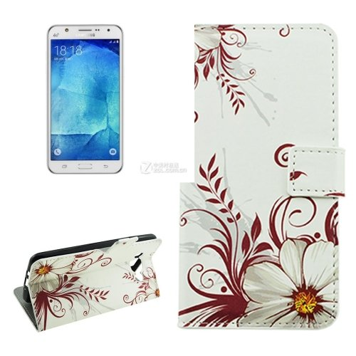 For Galaxy J7 (2016) Buds Pattern Flip Leather Case with Holder, Card Slots & Wallet