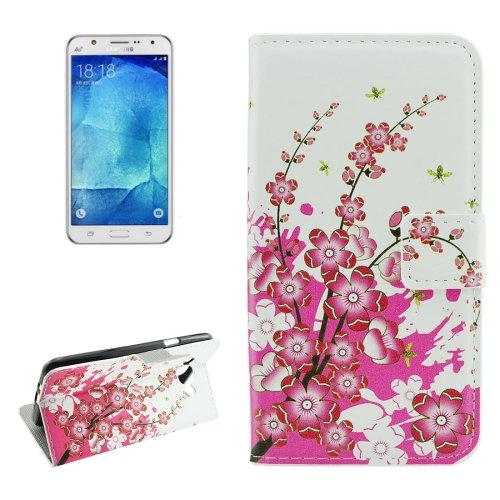 For Galaxy J7 (2016) Blossom Pattern Flip Leather Case with Holder, Card Slots & Wallet