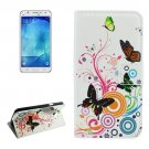 For Galaxy J7 (2016) Butterfly Pattern Flip Leather Case with Holder, Card Slots & Wallet