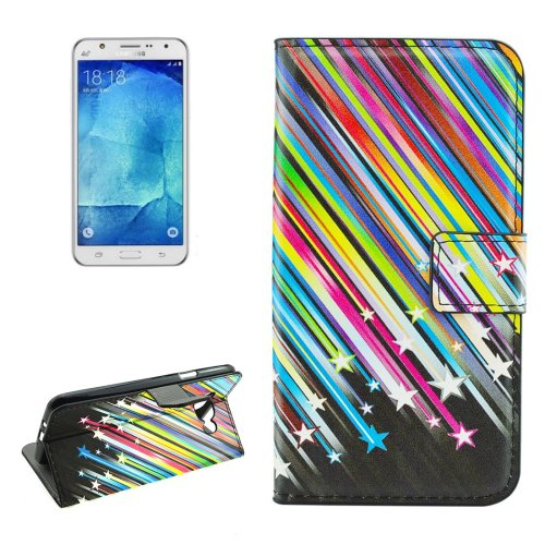 For Galaxy J7 (2016) Meteor Pattern Flip Leather Case with Holder, Card Slots & Wallet