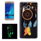For Galaxy J7 (2016) Noctilucent Chimes Pattern IMD Workmanship Soft TPU Back Cover Case