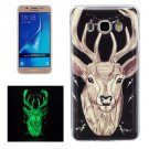 For Galaxy J7 (2016) Noctilucent Deer Pattern IMD Workmanship Soft TPU Back Cover Case