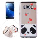 For Galaxy J7 (2016) Bear Pattern Electroplating Frame Soft TPU Protective Case
