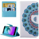For Galaxy A3(2016) Peacock Pattern Flip Leather Case with Holder, Card Slots & Wallet