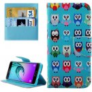 For Galaxy A3(2016) Owls Pattern Flip Leather Case with Holder, Card Slots & Wallet