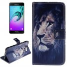 For Galaxy A3(2016) Lion Pattern Flip Leather Case with Holder, Card Slots & Wallet