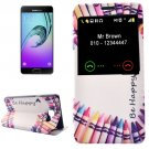 For Galaxy A3(2016) Pen Pattern Flip Leather Case with Call Display ID & Holder