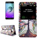 For Galaxy A3(2016) Tree Pattern Flip Leather Case with Call Display ID & Holder