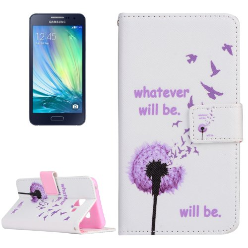 For Galaxy A3(2016) Will Be Pattern Flip Magnetic Leather Case with Holder, Card Slots & Wallet