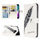 For Galaxy A3(2016) Feather Pattern Flip Leather Case with 9 Card Slots, Wallet & Holder