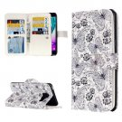 For Galaxy A3(2016) Flowers Pattern Flip Leather Case with 9 Card Slots, Wallet & Holder