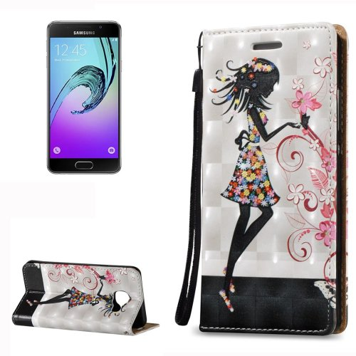 For Galaxy A3(2016) Relief Fairy Pattern Flip Leather Case with Holder, Card Slots & Lanyard