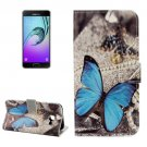 For Galaxy A3(2017) Butterfliy Litchi Leather Case with Holder, Card Slots & Wallet - # Colors