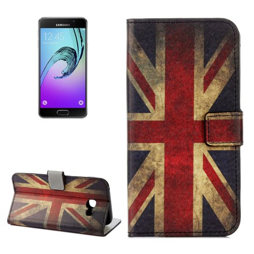 For Galaxy A3(2017) UK Flag Litchi Leather Case with Holder, Card Slots & Wallet - # Colors