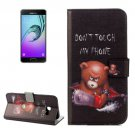 For Galaxy A3(2017) Bear Litchi Leather Case with Holder, Card Slots & Wallet - # Colors