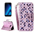 For Galaxy A3(2017) Laser Butterfly Leather Case with Card Slots, Wallet & Holder - # Colors
