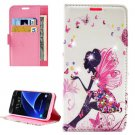 For Galaxy A7(2016) Lady Diamond 1 Leather Case with Holder, Card Slots & Wallet