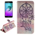 For Galaxy A7(2016) Windbell Pattern Flip Leather Case with Holder, Card Slots & Wallet