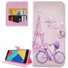 For Galaxy A7(2016) Bicycle Diamond Flip Leather Case with Holder, Card Slots & Wallet