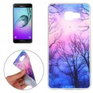For Galaxy A7(2016) Trees and Clouds Pattern TPU Protective Case