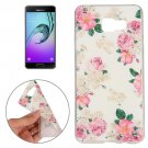 For Galaxy A7(2016) Flowers Pattern TPU Protective Case