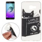 For Galaxy A7(2016) Cat Words Pattern TPU Protective Case