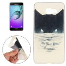 For Galaxy A7(2016) Abstract Wolf Pattern TPU Protective Case