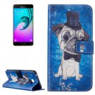 For Galaxy A7(2016) Dog Pattern Leather Case with Holder, Card Slots & Wallet