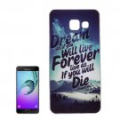 For Galaxy A7(2016) IMD Mountain Pattern Soft TPU Protective Case Back Cover