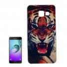For Galaxy A7(2016) IMD Tiger Pattern Soft TPU Protective Case Back Cover