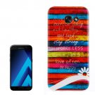 For Galaxy A7(2017) / A720 Stripe Pattern TPU Back Case