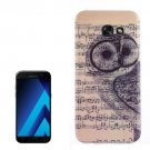 For Galaxy A7(2017) / A720 Note and Owl Pattern TPU Back Case