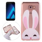 For Galaxy A7(2017) / A720 Rabbit Pattern Electroplating Frame Soft TPU Protective Case