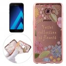 For Galaxy A7(2017) / A720 Leaves Pattern Electroplating Frame Soft TPU Protective Case