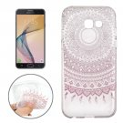 For Galaxy J7 (2017) Flower Buds Pattern Soft TPU Protective Back Cover Case