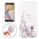 For Galaxy J7 (2017) Bicycle Pattern Soft TPU Protective Back Cover Case