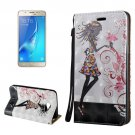 For Galaxy J7 (2017) 3D Relief Fairy Flip Leather Case with Holder, Card Slots & Lanyard