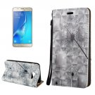 For Galaxy J7 (2017) 3D Relief Dandelion Flip Leather Case with Holder, Card Slots & Lanyard