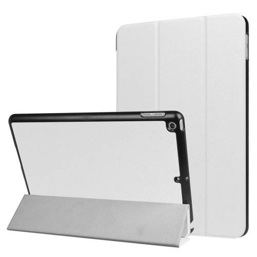 For iPad 9.7 inch 2017 Custer Texture Smart cover Leather Case with 3 fold Holder # Colors 2