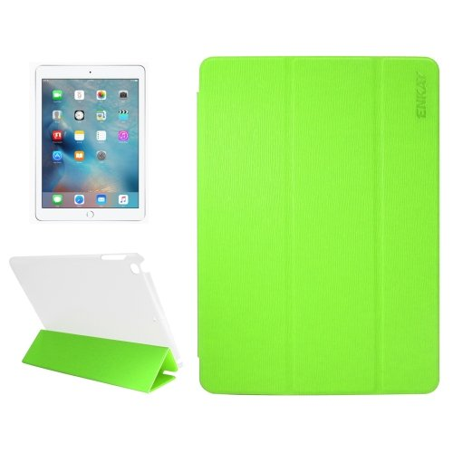 For iPad 9.7 inch 2017 Toothpick Texture+Plastic Bottom Enkay Smart Cover Case with Holder # Colors