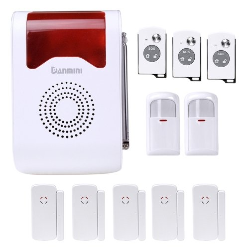 YA-302-21 11 in 1 Kit Wireless Security Human Voice Prompt Site Alarm System