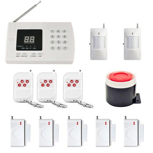 12 in 1 Kit PSTN 99 Zones 433MHz Wireless PIR Home Security Burglar Alarm System Auto Dialer