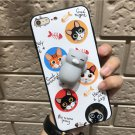 For iPhone 6 + & 6s + 3D Lovely White Cat Squeeze Relief IMD Squishy Back Cover Case