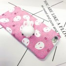 For iPhone 6 + & 6s + 3D Lovely Rabbit Squeeze Relief IMD Squishy Back Cover Case