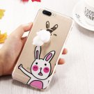 For iPhone 7 Plus 3D Cartoon Relief Squishy Drop proof Back Cover Case