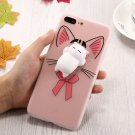 For iPhone 7 Plus 3D Cartoon Squeeze Relief Squishy Drop proof Back Cover Case